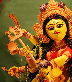 Durga Puja for tourists at West Bengal
